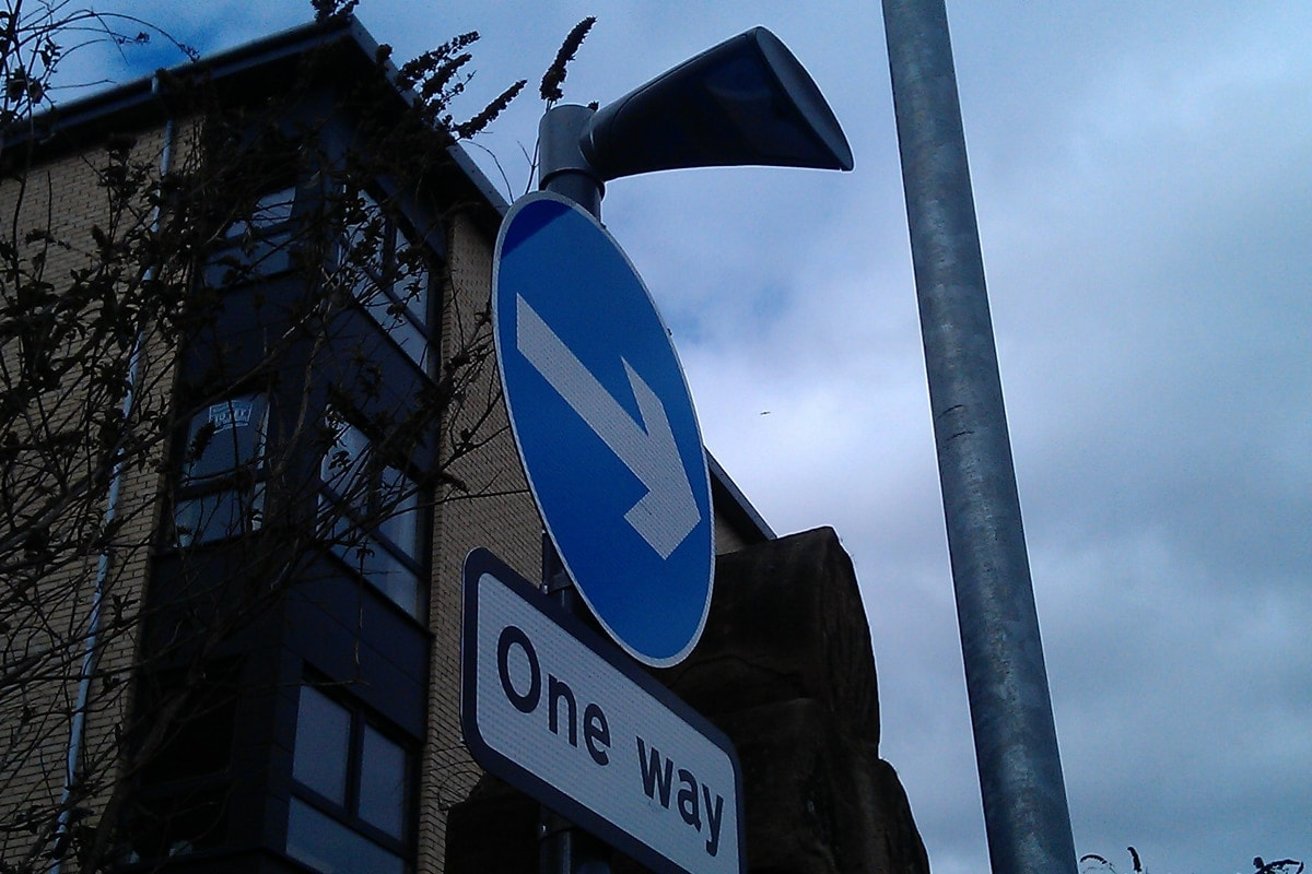 Apollo Alpha sign light installed in city centre