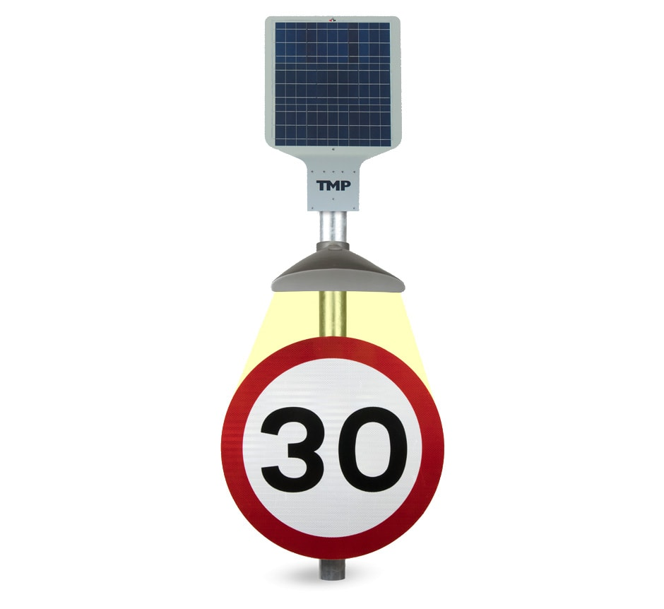 Solar Powered Traffic Sign Light - The Alpha Solar LED from TMP Solutions