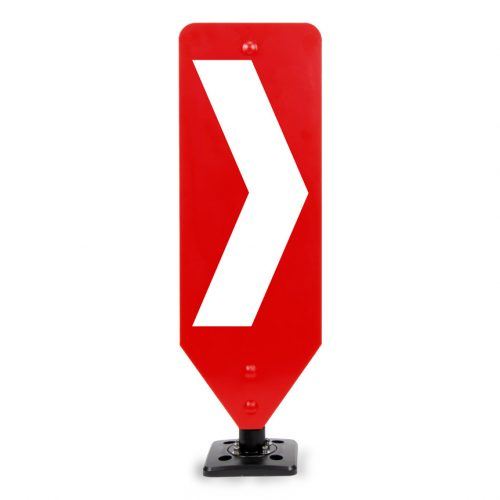 Chevron Right traffic bollard