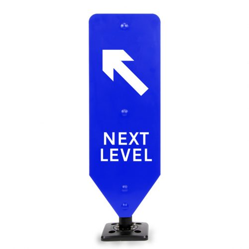 Next Level Left Car Park Sign