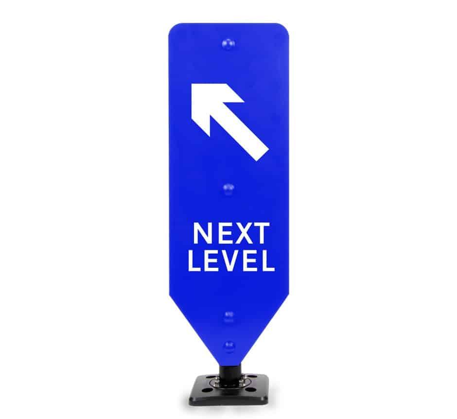 Next Level Left Car Park Sign