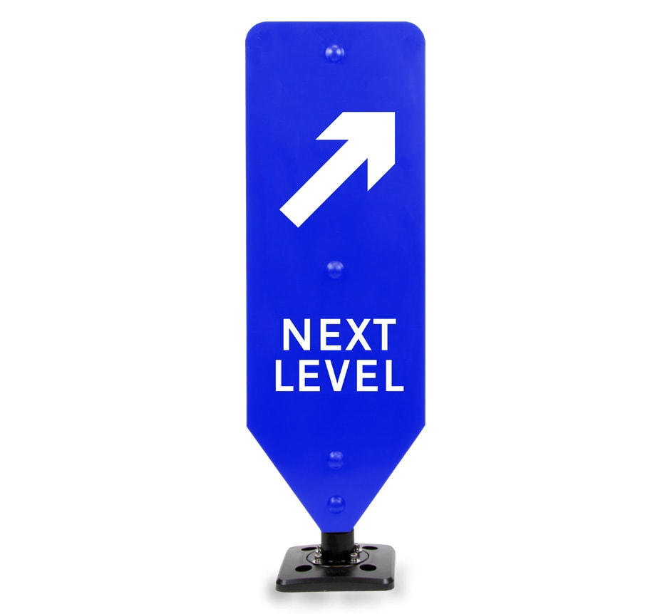 Next Level Right Car Park Sign