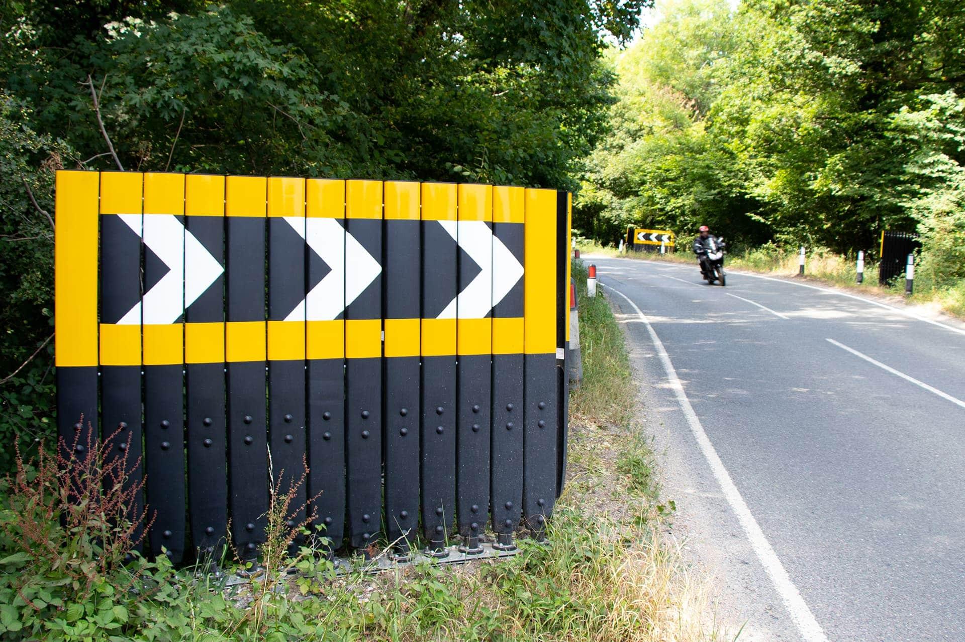 Motorcycle safe Evo Chev Traffic Chevron system