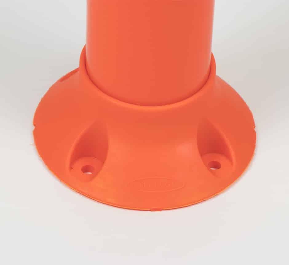 Orange City Post Hazard Marker lane separator Bolt Down Base