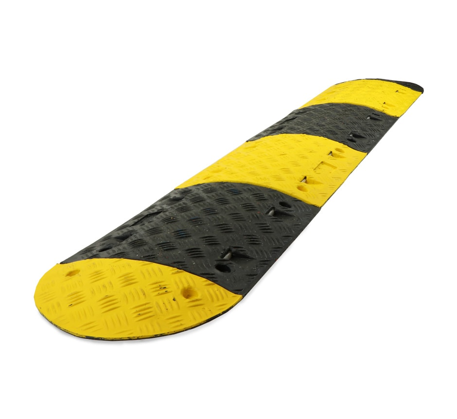 complete yellow and black speed bump