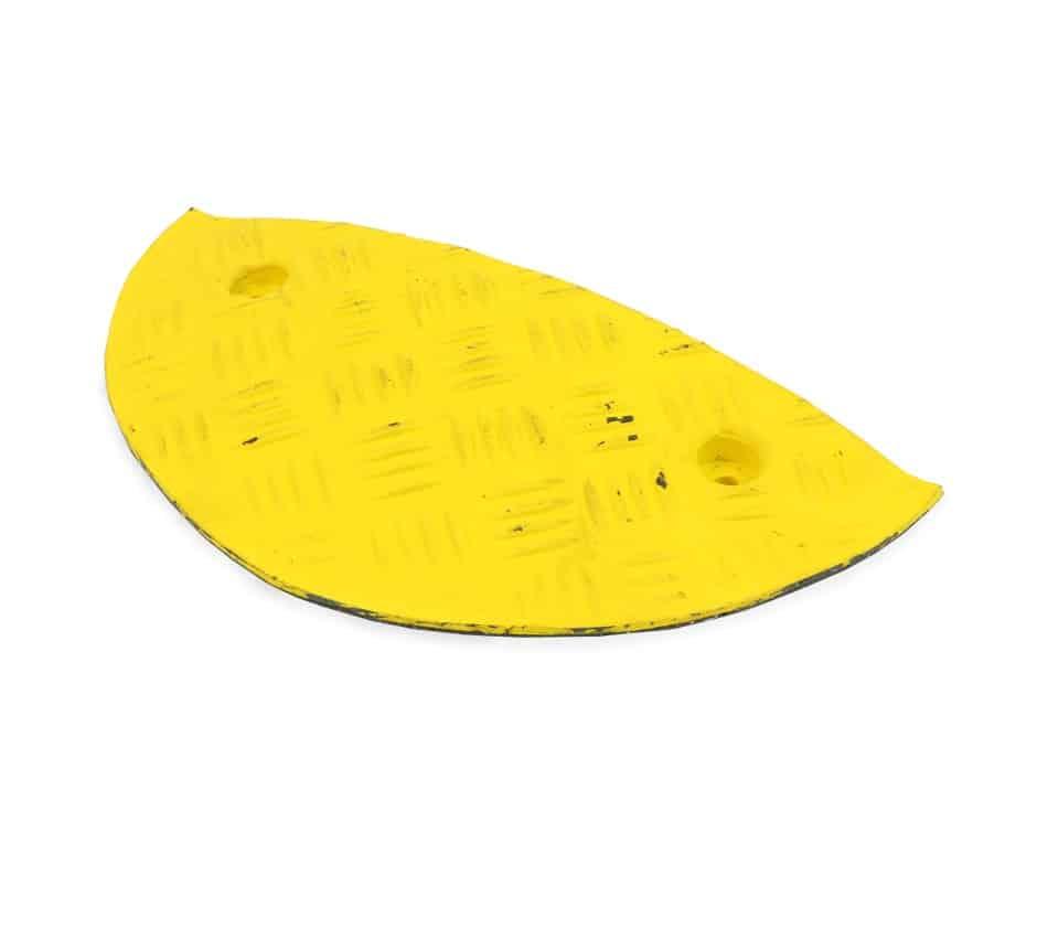 Yellow speed bump end cap