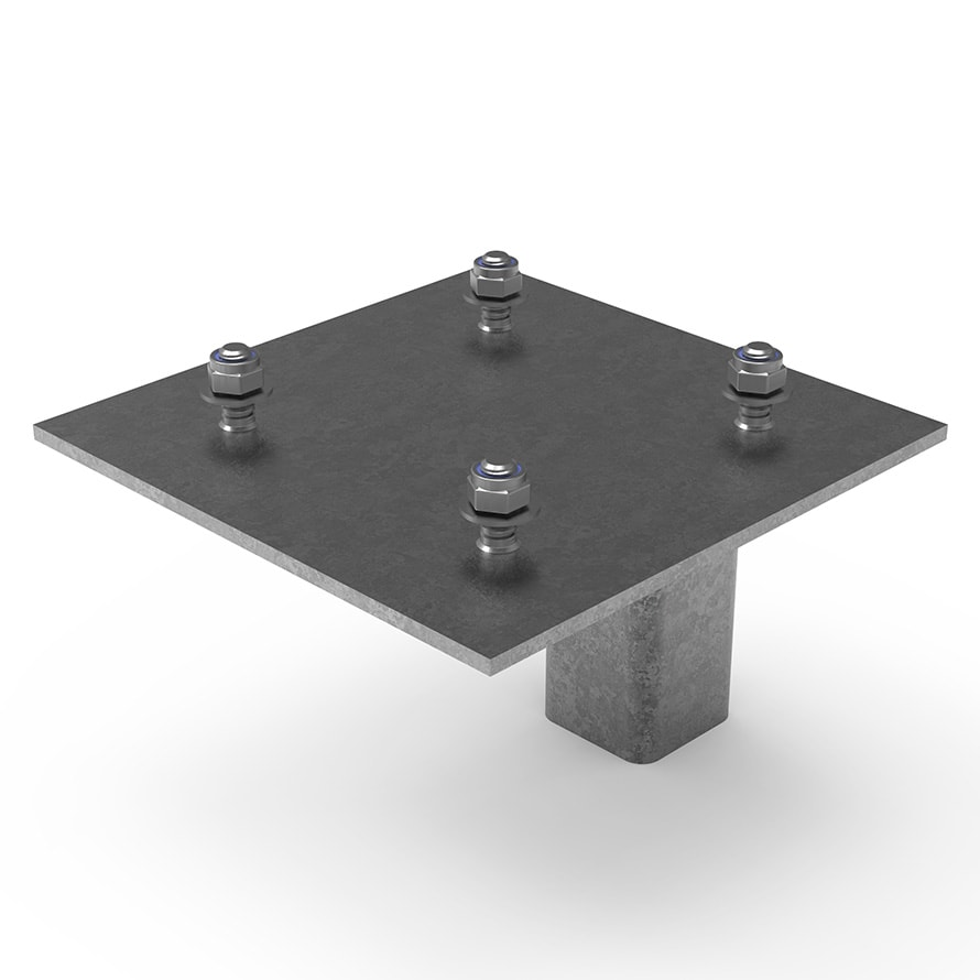 Traffic Bollard TMP NAL Retention Socket Adaptor Top Angle