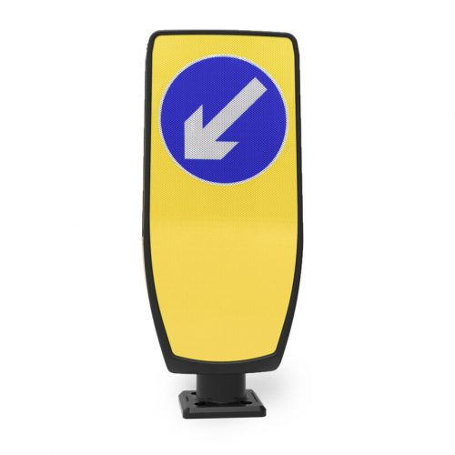 EVO-S illuminated traffic bollard Solar LED TMP Solutions