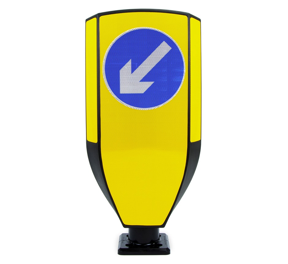Keep Left Traffic Bollard TMP Evo-Max