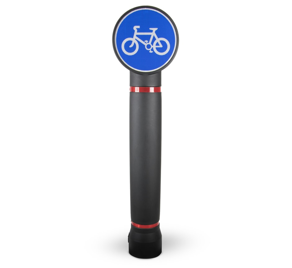 Pictor Cycle sign bollard from TMP