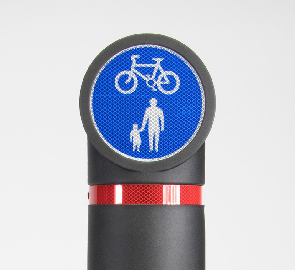 150mm traffic sign bollard