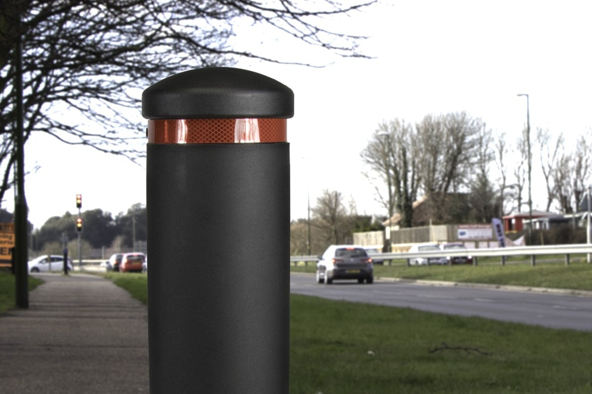 Apus street bollard on cycle path