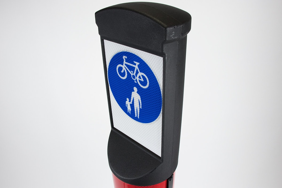 Indus cycle lane bollard angle