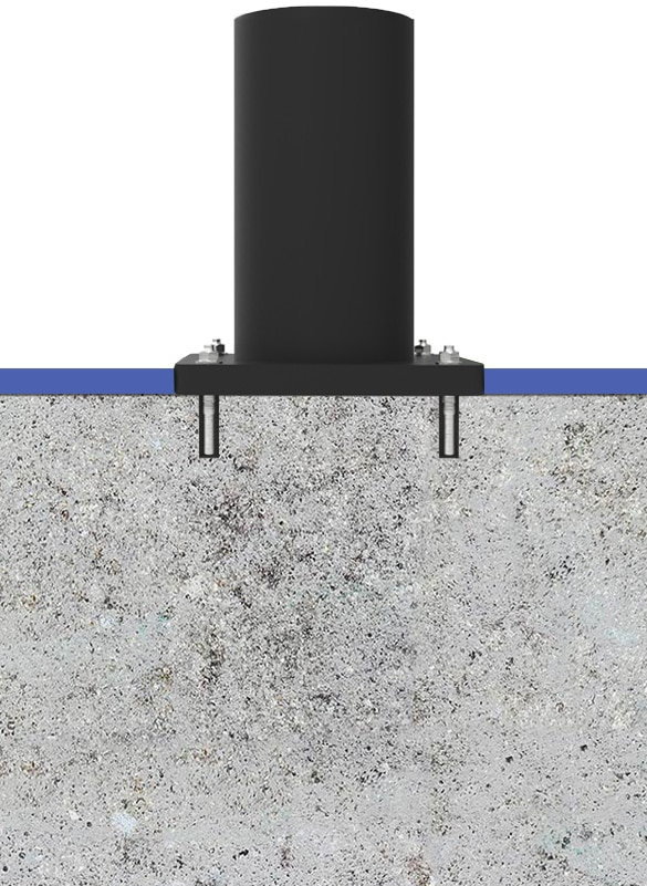 Surface mount bollard